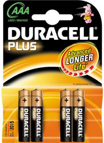 Pilas alcalinas Duracell LR03 (AAA)