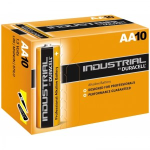 10 pilas alcalinas Duracell Industrial LR06 (AAA)